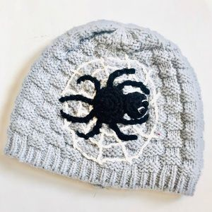 Other - Infant Halloween Gray Knit Spider Beanie Hat